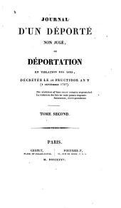 Journal d'un déporté non jugé,ou: Déportation en violation des lois, Volume2