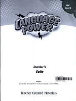 Language Power: Grades 3-5 Level A Teacher's Guide