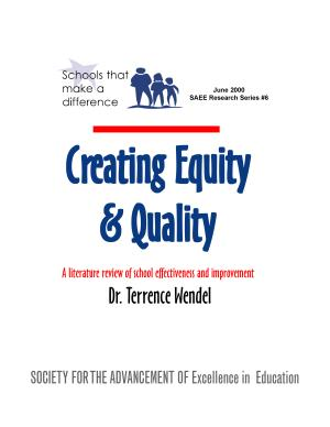 Creating Equity and Quality PDF