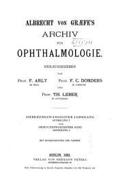 Albrecht von Graefes Archiv für Ophthalmologie: Band 27
