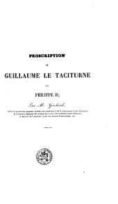 Proscription de Guillaume le Taciturne par Philippe II.