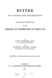 Butter: its analysis and adulterations, by A. Angell and O. Hehner