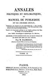 Annales politiques et diplomatiques: ou Manuel du publiciste et de l'homme d'état, Volume2