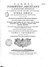 Sancti Prosperi ... Opera omnia