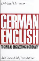 German English Technical And Engineering Dictionary