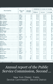 Annual Report of the Public Service Commission, Second District: Volumes 1-2