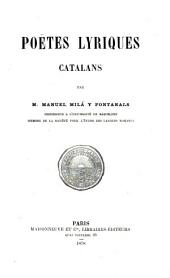 Poëtes lyriques catalans
