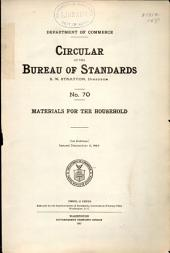 Circular of the Bureau of Standards: Issue 70