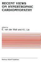 Recent Views on Hypertrophic Cardiomyopathy PDF