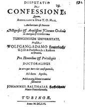 Disputatio De Confessione