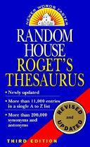 Random House Roget s Thesaurus PDF