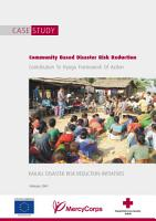 Community Based Disaster Risk Reduction  Contribution To Hyogo Framework Of Action PDF
