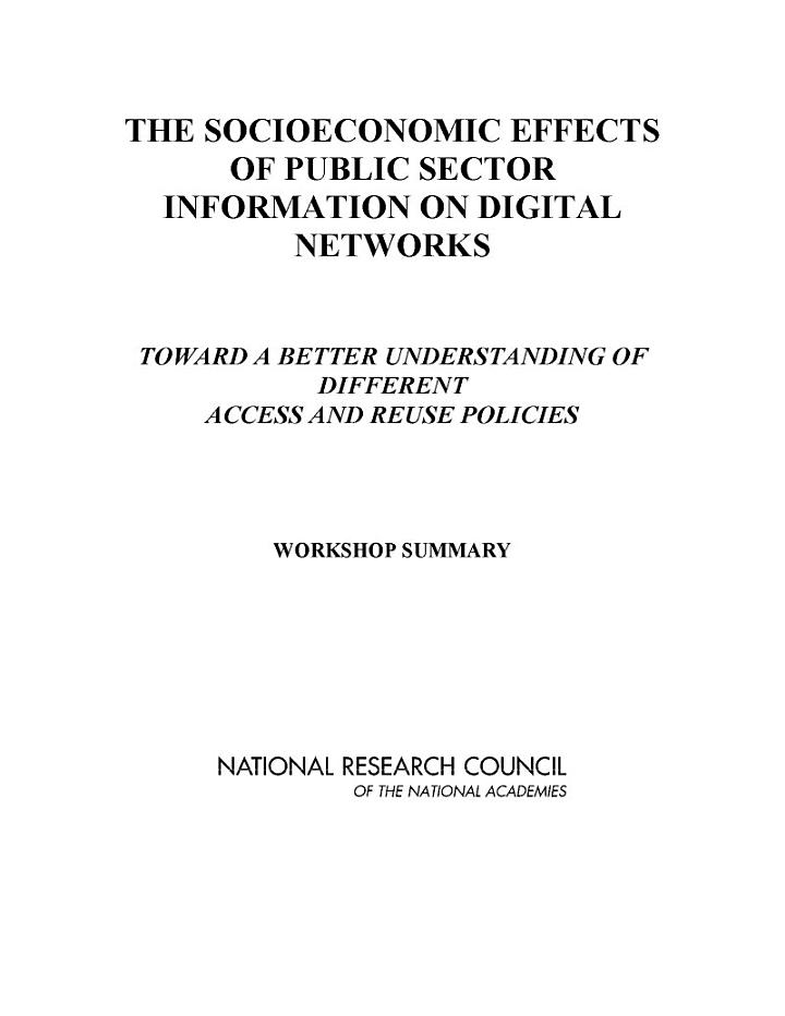 The Socioeconomic Effects of Public Sector Information on Digital Networks