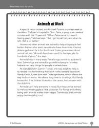 Test Prep Level 3 Animals At Work Comprehension And Critical Thinking Book PDF