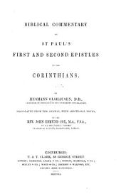 Biblical Commentary on St. Paul's First and Second Epistles to the Corinthians