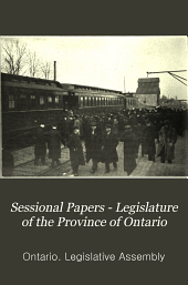 Sessional Papers - Legislature of the Province of Ontario: Volume 9; Volume 44, Part 9