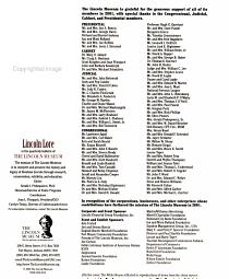 Lincoln Lore PDF