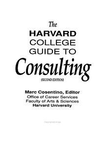 The Harvard College Guide to Consulting