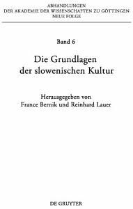 Die Grundlagen der slowenischen Kultur PDF