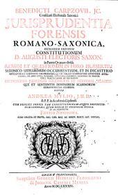 Iurisprudentia forensis Romana Saxonica