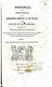 Journal of the Proceedings of the Legislative-Council of the State of New-Jersey