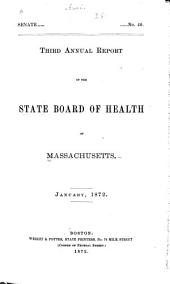 Annual Report of the State Board of Health of Massachusetts: Volume 3