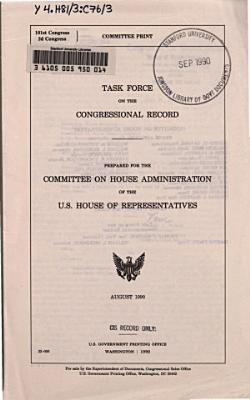 Task Force on the Congressional Record