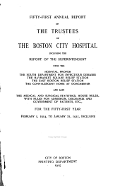 Annual Report of the Trustees of the City Hospital, Boston: Issue 51