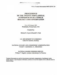 Proceedings of the Twenty first Annual Symposium on Sea Turtle Biology and Conservation  24 to 28 February 2001  Philadelphia  Pennsylvania  USA PDF