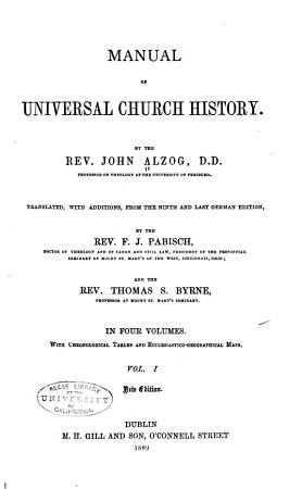 Manual of Universal Church History PDF
