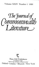 The Journal of Commonwealth Literature PDF