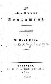 Des alten Pfarrers Testament