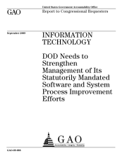 Information Technology: DoD Needs to Strengthen Management of Its Statutorily Mandated Software and System Process Improvement Efforts