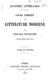 Cours complet de littérature moderne
