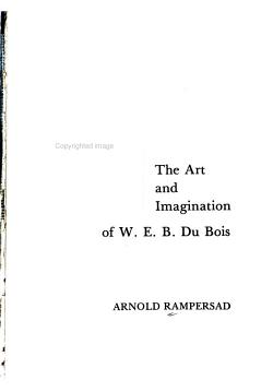 The Art and Imagination of W  E  B  Du Bois PDF