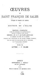 Oeuvres de Saint François de Sales: Volume11