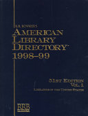 American Library Directory  1998 1999 PDF