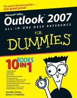Outlook 2007 All in One Desk Reference For Dummies PDF