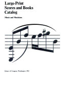 Large-print Scores and Books Catalog