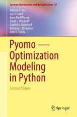 Pyomo     Optimization Modeling in Python PDF
