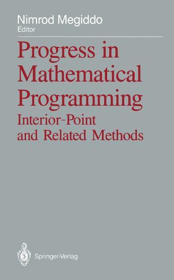 Progress in Mathematical Programming PDF