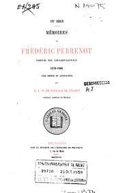 Mémoires de Frédéric Perrenot, sieur de Champagney, 1573-1590