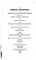 The Medical Repository  And Review Of American Publications On Medicine  Surgery And The Auxiliary Of Science  PDF