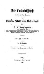 Beiträge zur agricultur-chemie und physiologie