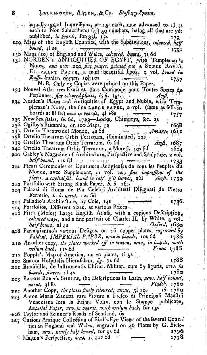 Lackington, Allen, & Co's. Catalogue,
