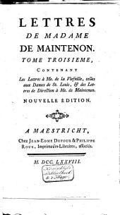 Mémoires pour servir a l'histoire de madame de Maintenon, et à celle du siecle passé: Volume9