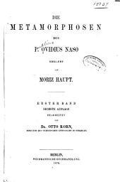 Die Metamorphosen des P. Ovidius Naso: Bände 1-2