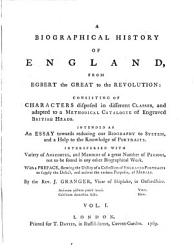 A Biographical History Of England From Egbert The Great To The Revolution Book PDF