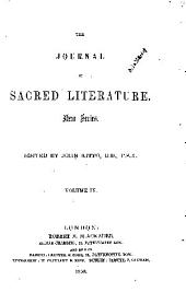The Journal of Sacred Literature: Volume 4