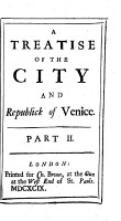 The City and Republick of Venice  Etc   Translated by Fra  Terne   PDF